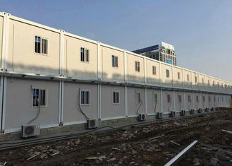 China Temporary Custom Container House Environment Friendly Aluminum Frame Door supplier