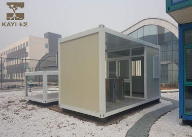 China Glass Wool Panels Prefabricated Container Homes Sturdy Durable With Cement Board Floor supplier