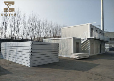 China Customizable Prefab Container Homes With External Staircase For Construction Site supplier