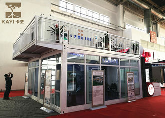 China Two Stories Prefabricated Container Homes Glass Wool Material With Double - Glazing supplier