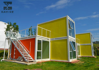 China Art Decorative Prefabricated Container House , Vacation Prefab Sea Container Homes supplier