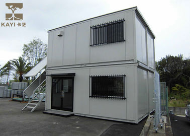 China Two - Layer Flat Pack Container House , Flat Pack Metal Containers With Steel Door supplier