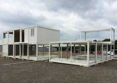 China Glass Wool Modular Container Homes Two Stories For Large Construction Site supplier
