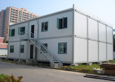 China Double - Deck Modular Container House , Living Container House With External Stairs supplier