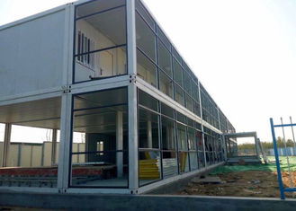 China Dormitory Double Container House Galvanized Steel Frame Structure With Internal Stairs supplier