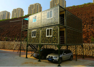 China Army Green Small Container Office Three Layers 2mm PVC Floor Panel With Garage supplier