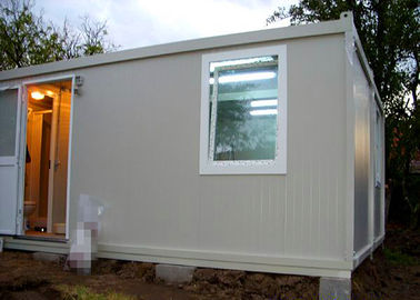 China Temporary Residence Modular Container House Steel Door With Sanitary Facilities supplier