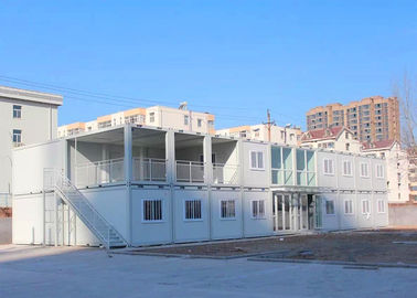 China Insulation Modern Container Homes With Steel Door Glass Wool Sandwich Panel supplier