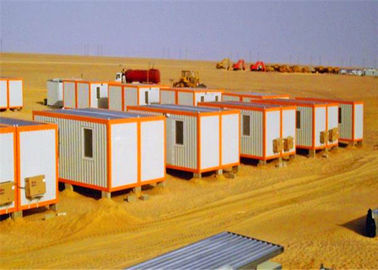 China Windbreak Storage Container Houses , Flat Pack Storage Container In Desert supplier