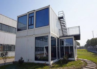 China Steel Door Prefab Container House With Double Glazing Glass Wall And Window supplier