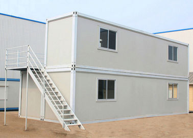 China Two Layers Prefabricated Container House , 40ft Container Home With Insulation Wall Panel supplier