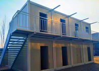 China Ballroom / Bar Portable Shipping Container Homes Two Stories With External Stairs factory