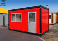 China Red Flat Pack Container House , Single Container House For Living / Administration factory