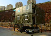 China Army Green Small Container Office Three Layers 2mm PVC Floor Panel With Garage company