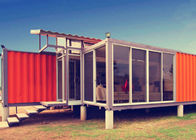 China Multifunctional Portable Container House , White Prefab Container House For Restaurant factory