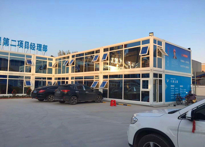 Two - Layer Glass Curtain Commercial Modular Buildings With