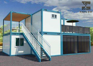Customizable Prefab Container Homes With External Staircase For Construction Site