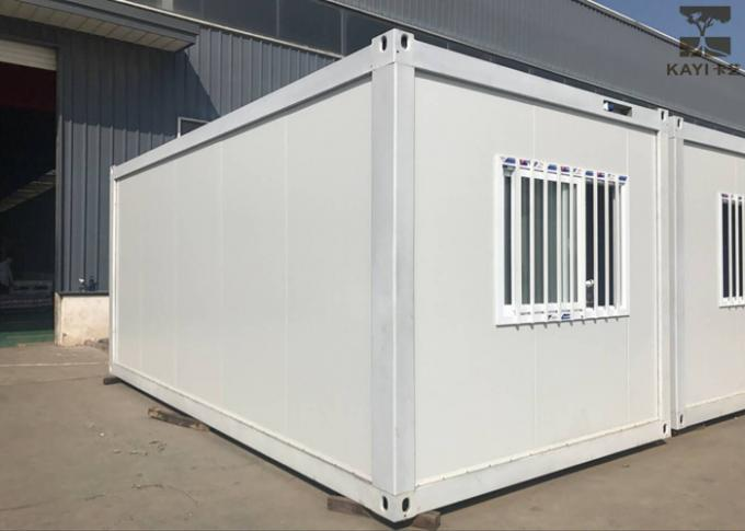 Single Layer Pre Made Container Homes With Standard Galvanized Steel Frame Structure
