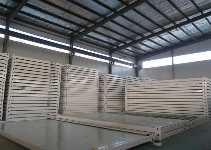 Removable Flat Pack Metal Containers Galvanized Steel Frame Structure For Workshop / Plant