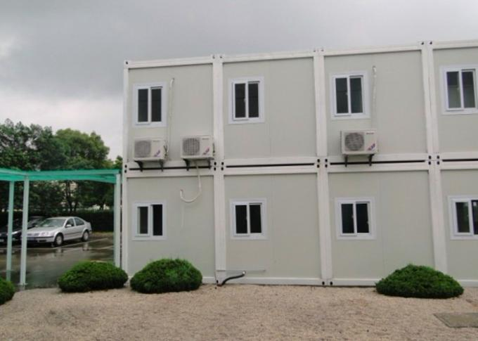Double - Deck Modular Container House , Living Container House With External Stairs