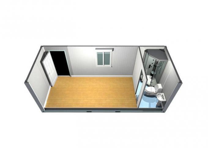 Temporary Residence Modular Container House Steel Door With Sanitary Facilities