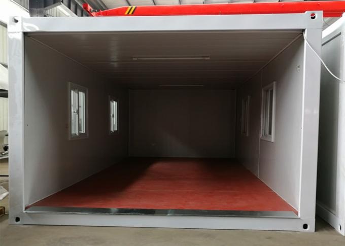 White Steel Structure Living Container House , Portable Living Containers With Power Facilities