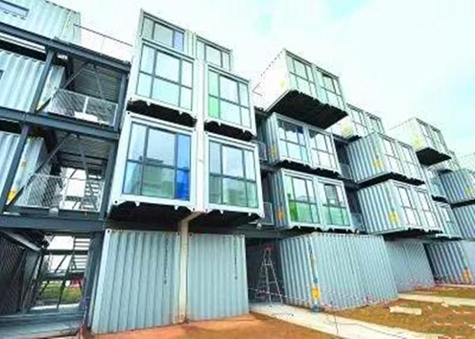 Optional Size Modern Container Homes For Beautiful Residence Area / Shopping Mall