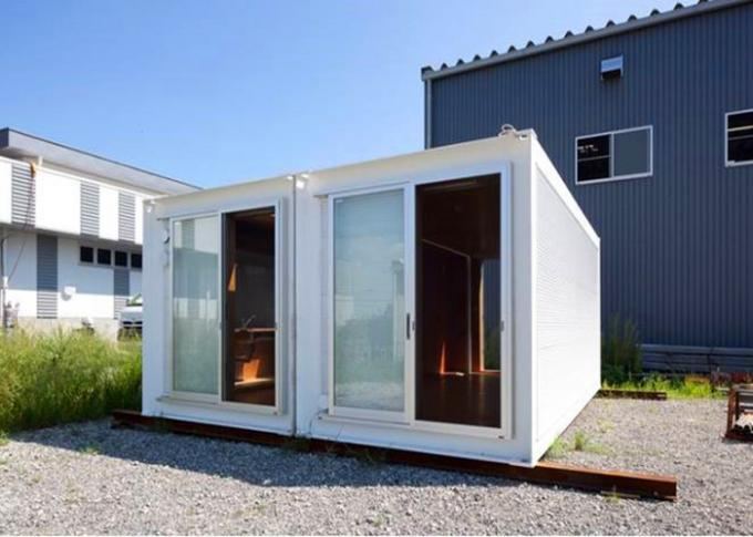 Steel Door Custom Container House Glass Wall 36W Double Tube Lamp For Tourism