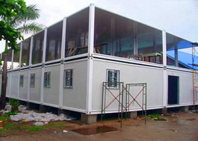 Two Layers Prefabricated Container House , 40ft Container Home With Insulation Wall Panel