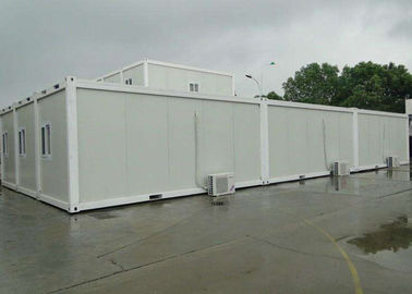 White Mobile Container Homes Environment Friendly Assembly 6000mm * 2438mm * 2896mm