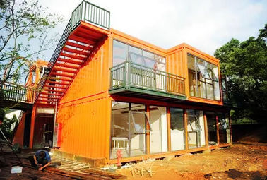 Wind Resistance Metal Storage Container Homes Reliable With UPVC Sliding Window