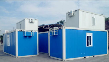Advanced Custom Container House , Blue Portable Container House With Bathroom