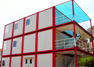 Warm Cool Steel Container Houses , Metal Container Houses With Air Conditioner