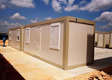 Powder Coated Mobile Container Homes , Vacation Standard Moving Storage Containers
