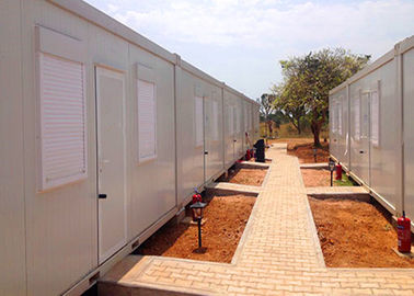 Shutter Windows Storage Container Houses , Freight Storage Containers With Living Facilities