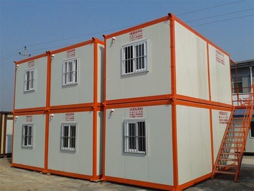Customized Color Container Modular Housing Vertical Connection with Sandwich Wallboard
