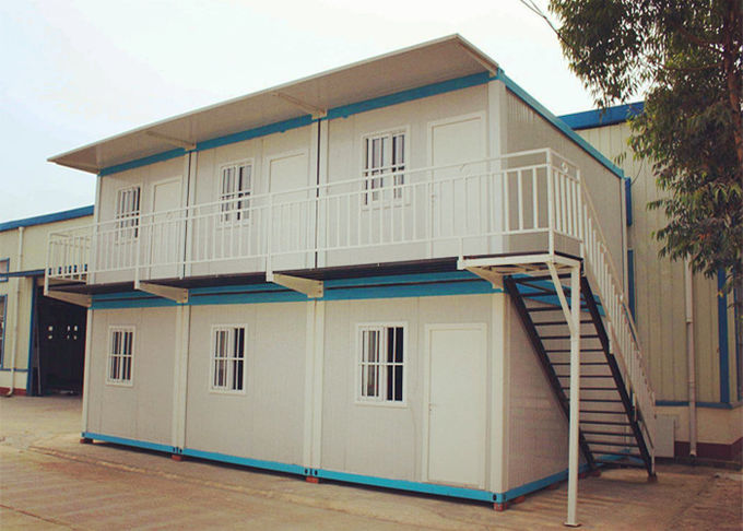 Windproof Moving House Container Galvanized Steel Colorful Decoration Design